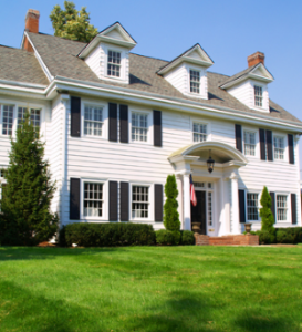 Large Colonial style house